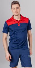 Поло спортивное Nordski Blue/Red мужское