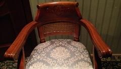 """Кресло с мягкой сидушкой """"Верджиния (Virginia)"""" —  Итальянский орех (MK-2474-NM)"""