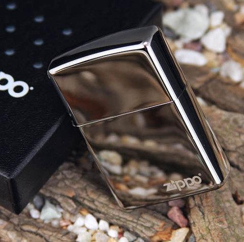 Зажигалка Zippo №150ZL* с покрытием Black Ice, латунь/сталь, чёрная с фирменным логотипом123