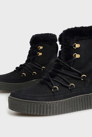 Женские темно-синие ботинки Tommy Hilfiger