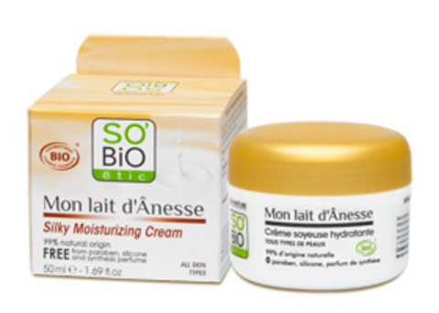 Увлажняющий крем для лица с ослиным молоком SO'Bio etic, 50 мл