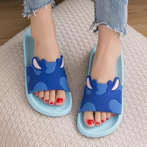 Тапочки жираф голубые
