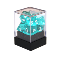 Набор разногранных прозрачных кубиков цвета аквамарин