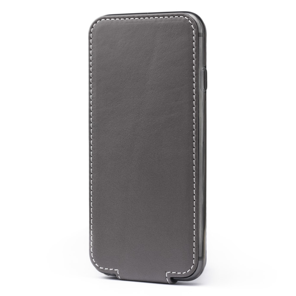 Чехол для iPhone 6/6S из натуральной кожи теленка, серого цвета