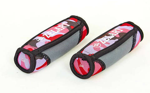 Гантели для фитнеса и бега с мягкими накладками (2x1кг)