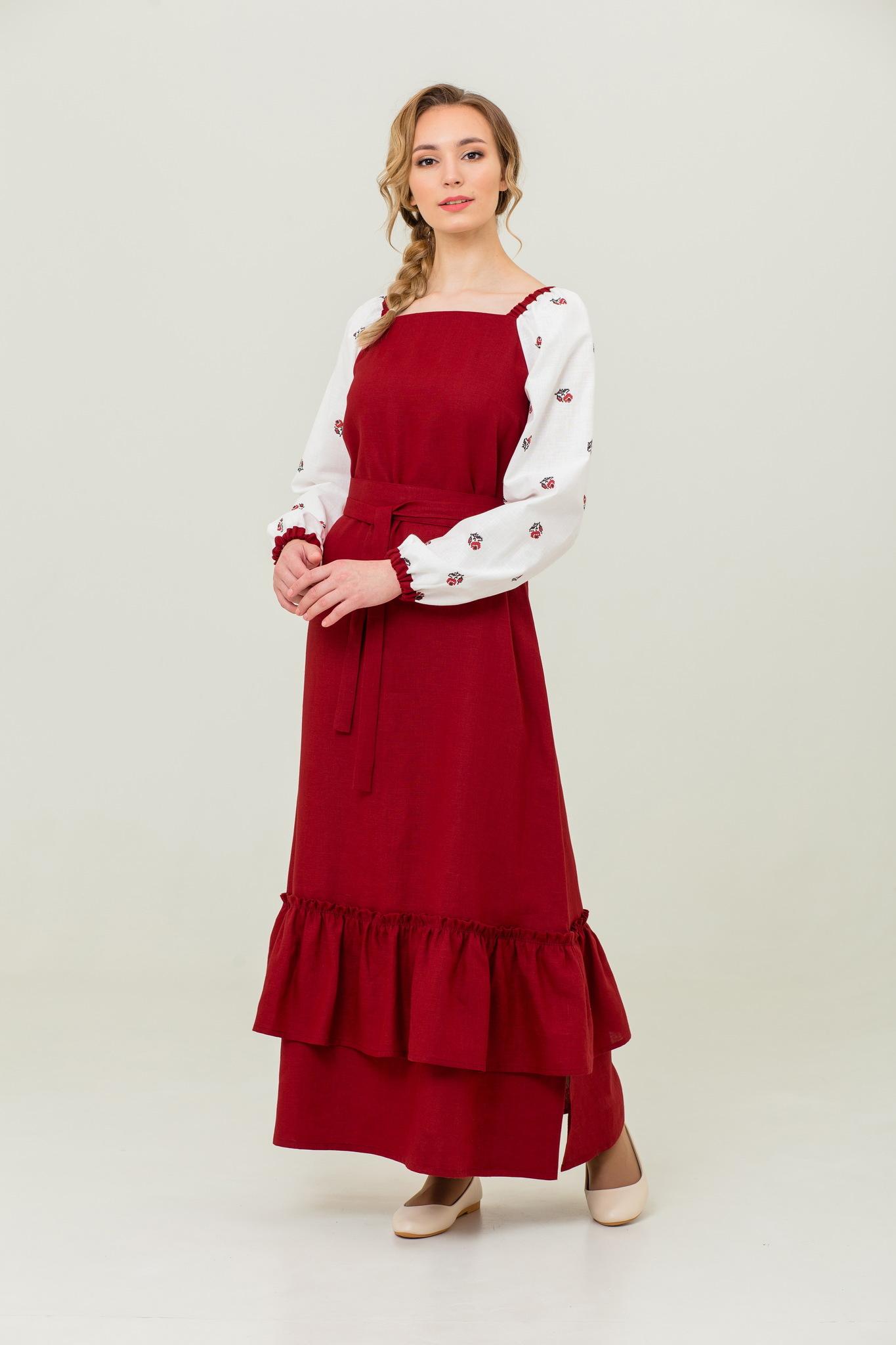 Русское народное платье с поясом Алёнушка