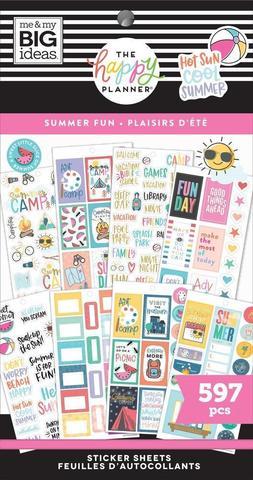 Блокнот со стикерами для ежедневника Create 365 Happy Planner Value Pack Stickers - Summer Fun- 597 шт