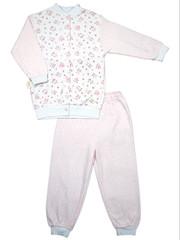 Пижама для девочки с606и, цвет: розовый с белым