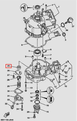 Ротор масляного насоса для лодочного мотора F5 Sea-PRO(4-25)