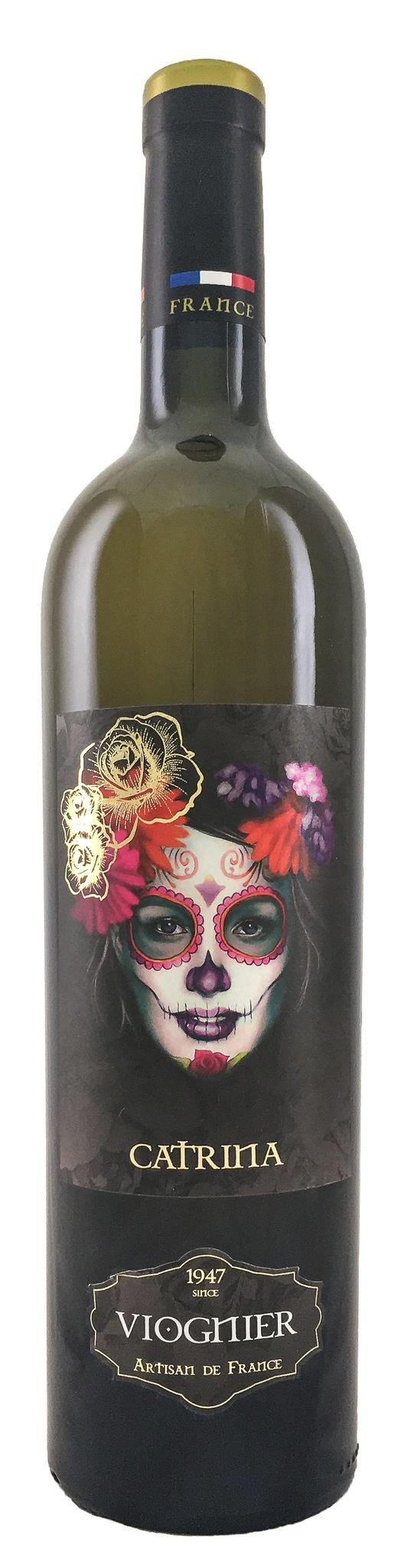Вино Катрина Вионье сухое белое з.г.у. категория IGP регион Лангедок (Oc) 0,75л.