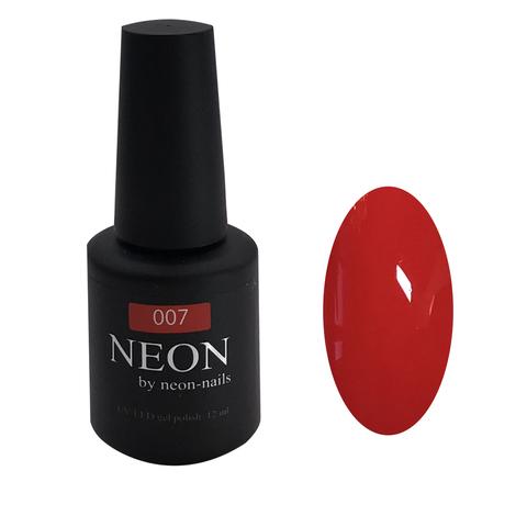 NEON, гель-лак Red № 007 , (12ml) неоновый красный