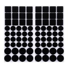 Протекторы защитные из фетра черные, в ассортименте, 20мм, 27мм, 24*24мм