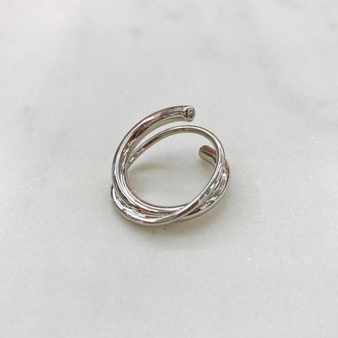 Кольцо спиральное (серебристый)