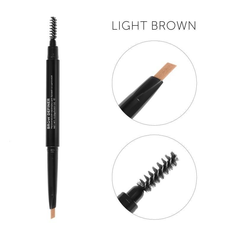 Карандаш для бровей CC Brow Definer Light brown Светло-коричневый