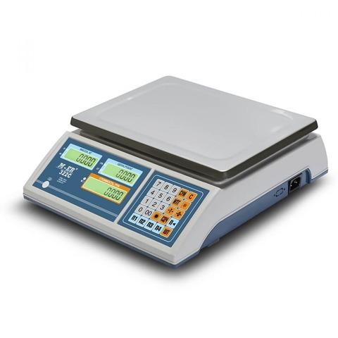 Весы торговые настольные Mertech M-ER 322AC-15.2 Ibby, LCD/LED, АКБ, 15кг, 2гр, 315х235, с поверкой, без стойки