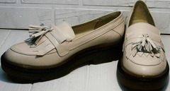 Стильные туфли осенние женские Markos S-6 Light Beige.