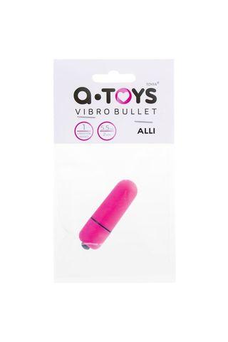 Розовая вибропуля A-Toys Alli - 5,5 см.