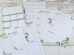 Сменный блок Ботаника блок из 10 листов Моя неделя