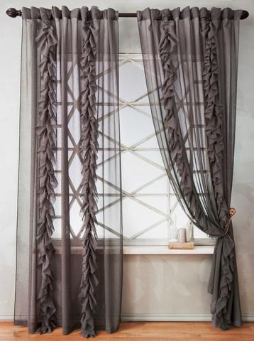 Комплект штор Иви серый
