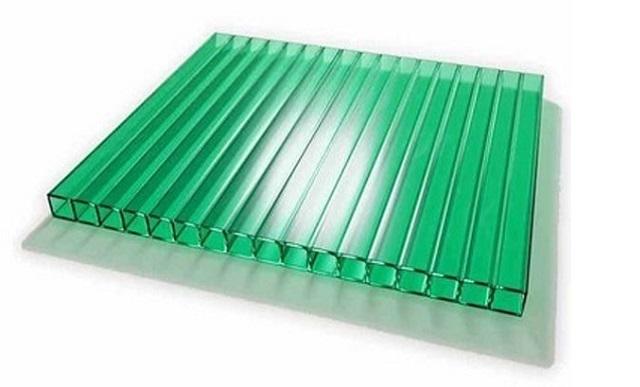 Поликарбонат сотовый 6000*2100мм (4мм) Зеленый