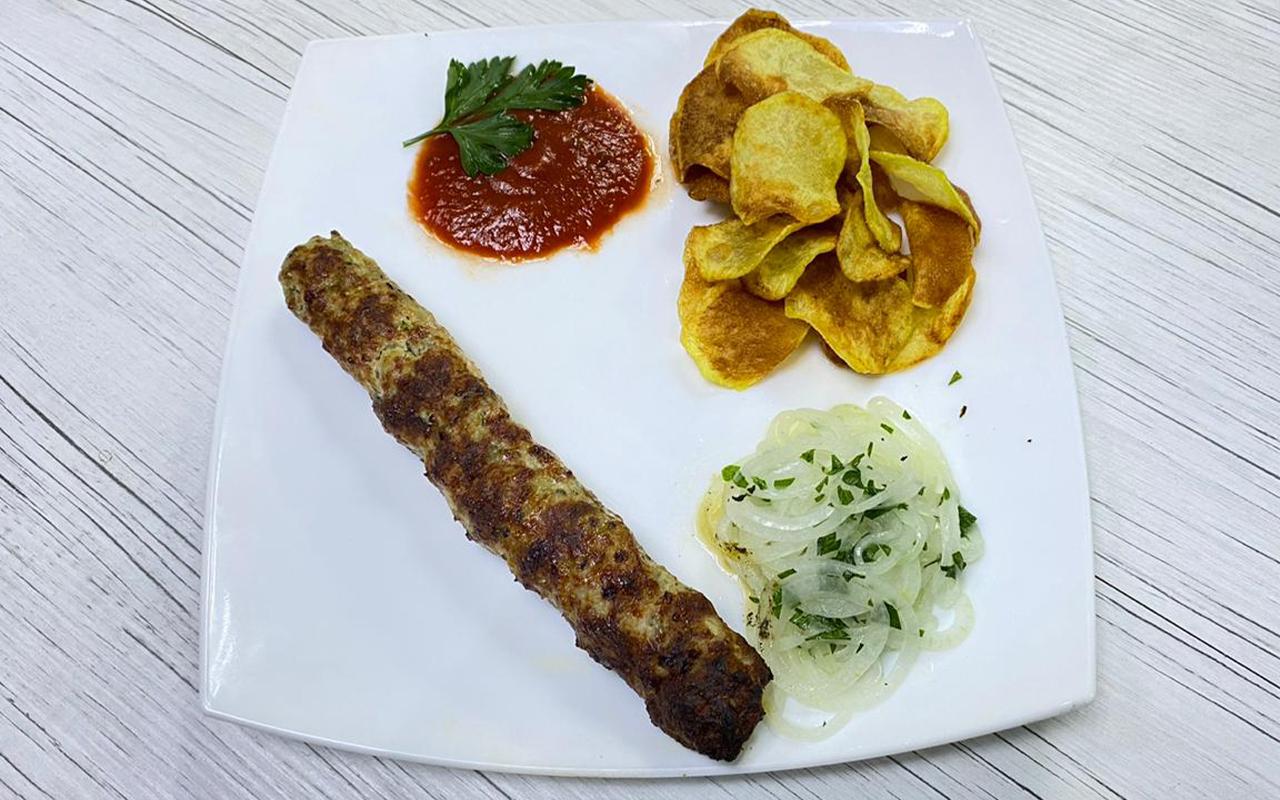 Кебаб с картофельными чипсами
