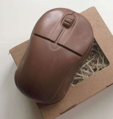 Пластиковая форма для шоколада дет. МЫШЬ КОМПЬЮТЕРНАЯ БОЛЬШАЯ (95х60мм)
