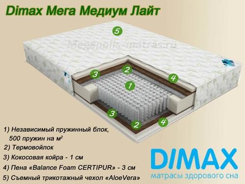 Матрас Dimax Мега Медиум Лайт от Мегаполис-матрас