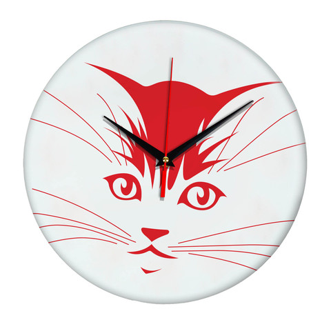 часы настенные с силуэтом кота