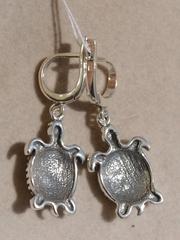 Сейшелы (серебряные серьги)