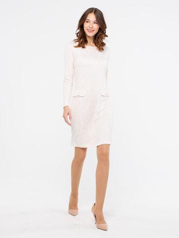 Фото жаккардовое облегающее платье-футляр с длинным рукавом - Платье З790-446 (1)