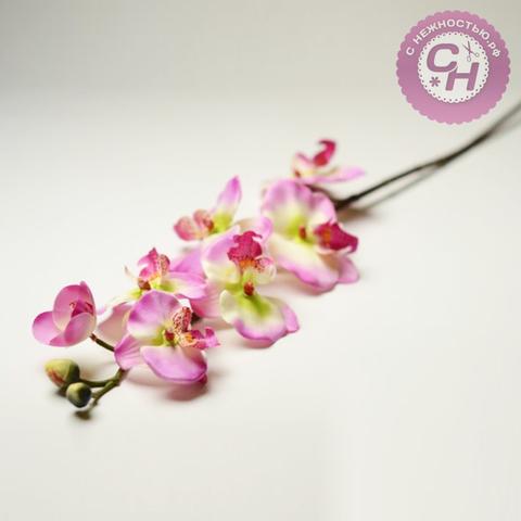 Орхидея искусственная на ветке, 7 голов, 70 см.