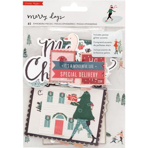 Набор высечек  Merry Days Ephemera Cardstock Die-Cuts - 40шт