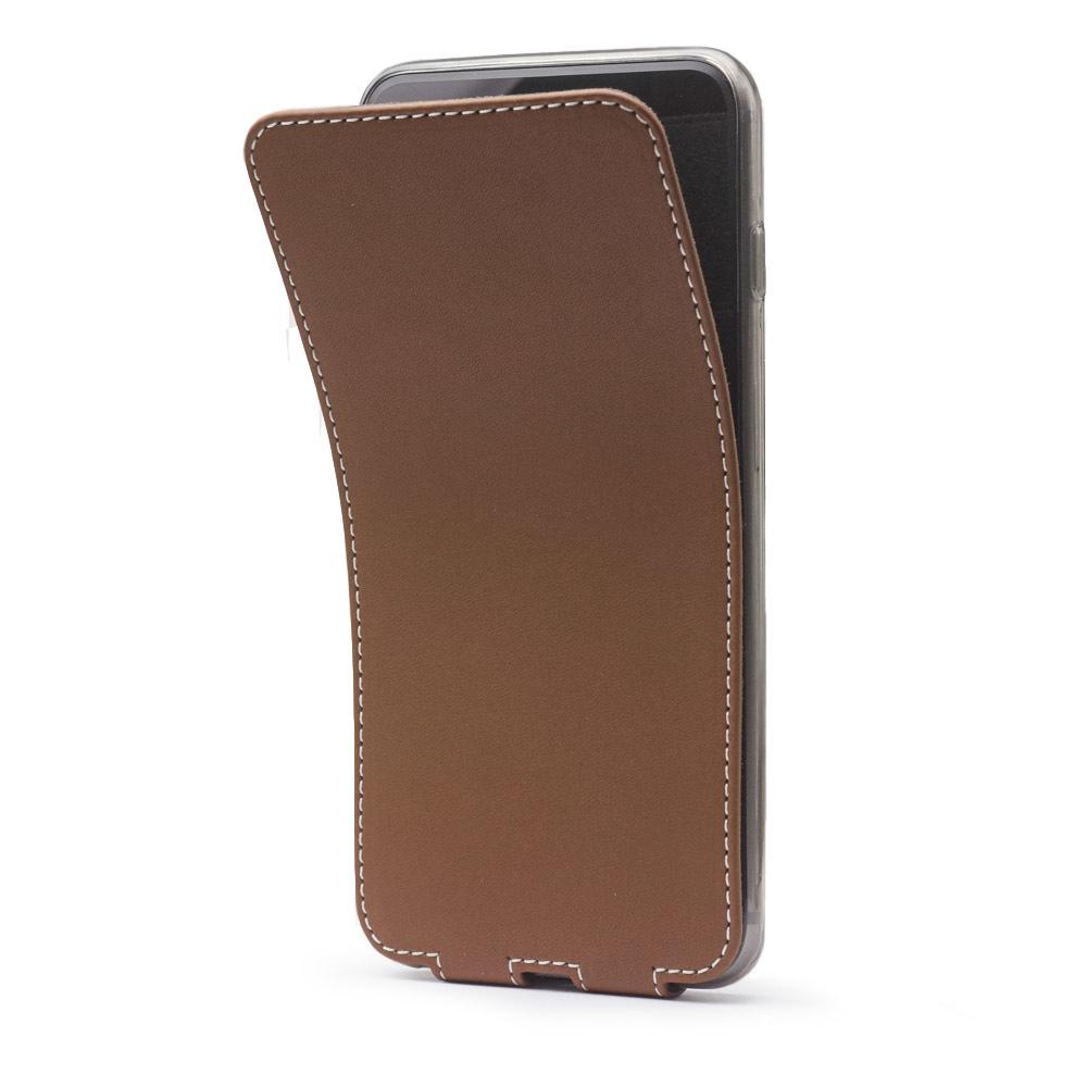 Чехол для iPhone 6/6S Plus из натуральной кожи теленка, коричневого цвета