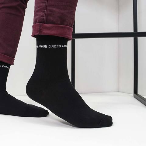 Мужские носки Dress Code черные линия купить