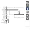Встраиваемый смеситель для душа с душевым комплектом TZAR K3418012NC никель, на 1 выход - фото №2