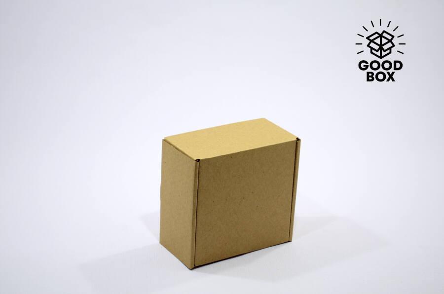 Коробка 150*150*80 бурая микрогофрокартон