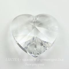 6228 Подвеска Сваровски Сердечко Crystal (14,4х14 мм)