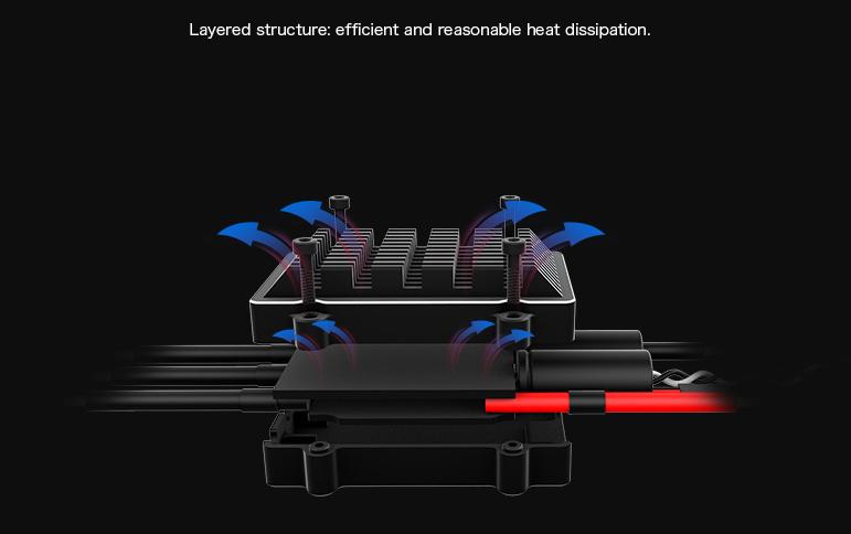 Радиатор регулятора Flame 60A отлично отводит лишнее тепло