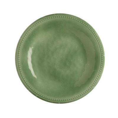 MELAMINE DESSERT PLATE, HARMONY MINT 6 UN
