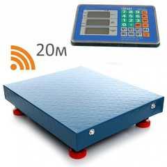 Весы торговые беспроводные ГАРАНТ ВПН-300УБ, LCD, АКБ, bluetooth (блютуз), 300кг, 100гр, 500*400, усиленные, платформенные