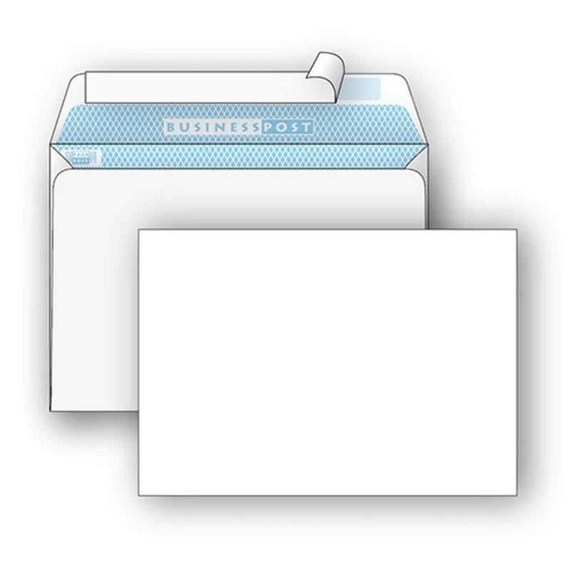 Конверт BusinessPost C5 90 г/кв.м белый стрип с внутренней запечаткой (1000 штук в упаковке)