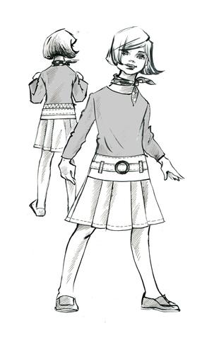 Выкройка школьной юбки на кокетке