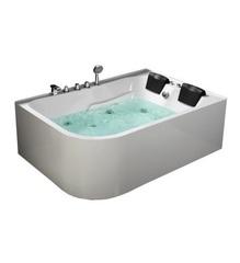 Акриловая ванна Frank F152 L 170х120 с гидромассажем левая