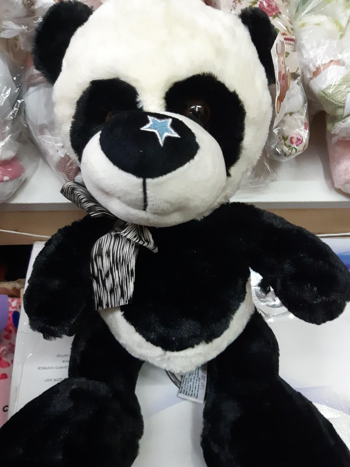 Мягкая панда с бантиком