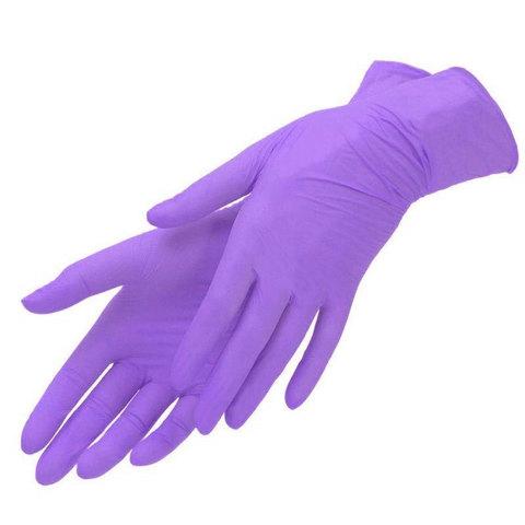 Перчатки нитрил MDC (TN216L) L-size фиолетовые 100 пар/уп