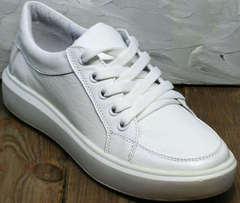 Модные спортивные туфли сникерсы женские Maria Sonet 274k All White.