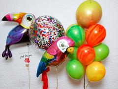 Композиция из шаров для мальчика