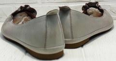 Женские летние туфли балетки кожа Wollen G036-1-1545-297 Vision.
