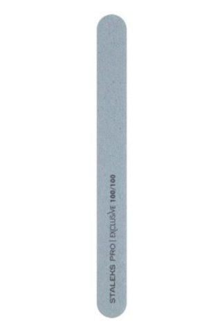 Пилка прямая минеральная для ногтей EXCLUSIVE 100/100