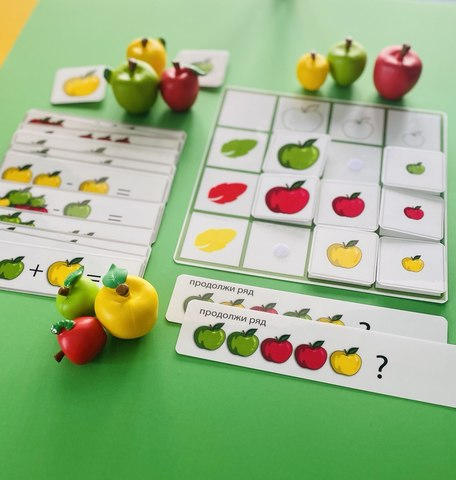 Счет с яблоками. Развивающее пособие на липучках Frenchoponcho (Френчопончо)